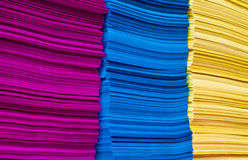 Stack of colorful papers Stock Photos