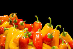 Stack of colorful peppers Royalty Free Stock Photo