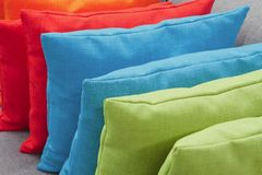 Stack of colorful pillows Stock Photos