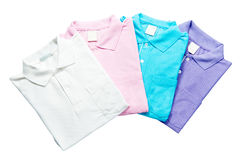 Stack colorful Polo Royalty Free Stock Images