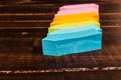 Stack of colorful post it note Royalty Free Stock Image