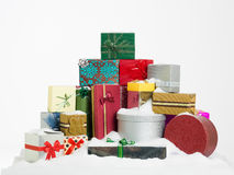 Stack of colorful presents Royalty Free Stock Photography