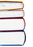Stack of colorful real books Stock Photos