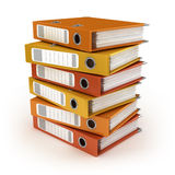 Stack of colorful ring binders Royalty Free Stock Images