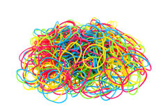 Stack of colorful rubber bands Royalty Free Stock Photography
