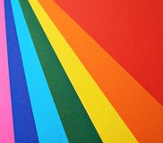 Stack of colorful sheets of paper Royalty Free Stock Photography