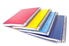 Stack of colorful spiral notebooks Stock Images