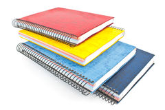 Stack of colorful spiral notebooks Stock Photography
