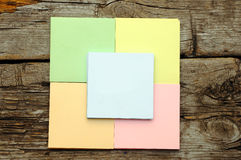 Stack of colorful sticky notes Stock Images