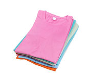 Stack of colorful  t-shirt Stock Photography