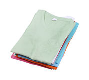 Stack of colorful  t-shirt Royalty Free Stock Images