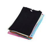 Stack of colorful  t-shirt Stock Photos