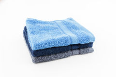 Stack colorful towel on white background Royalty Free Stock Image