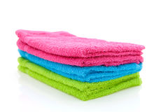 Stack of colorful towels Stock Images