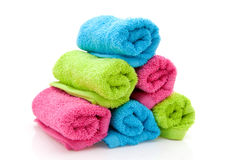 Stack of colorful towels Stock Photos