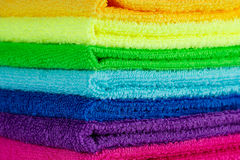 Stack of colorful towels Royalty Free Stock Photography