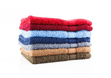 Stack of colorful towels Royalty Free Stock Image