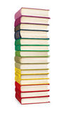 Stack of colorful vintage books Royalty Free Stock Photos