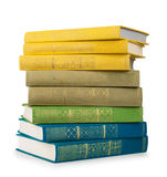 Stack of colorful vintage books Stock Photo