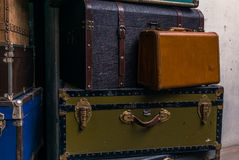 Stack of colorful vintage suitcases - 6 Royalty Free Stock Images