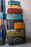 Stack of colorful vintage suitcases - 7 Royalty Free Stock Photos