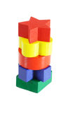 Stack of colorful wooden blocks Stock Photos