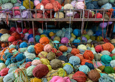 Stack of colorful yarns Stock Photography