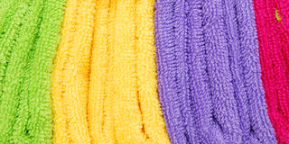 Stack of colorfull towels Royalty Free Stock Photos