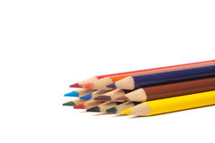 Stack of coloring pencils. Royalty Free Stock Images