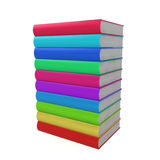 Stack of coloured books Stock Image