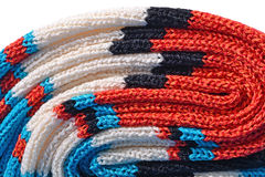Stack of colourful knitted closeup Stock Photography