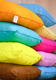 Stack of colourful pillows Stock Image