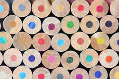 Stack of Colours. Stack of Coloured Crayons showing blank ends Stock Image