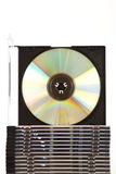 Stack of compact discs Royalty Free Stock Photography