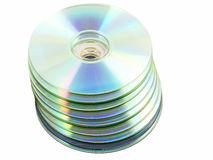 Stack of compact discs Stock Photo