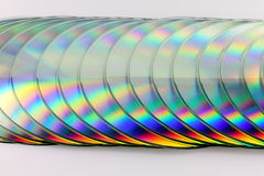 Stack of compact disks Stock Image