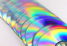 Stack of compact disks Royalty Free Stock Photos