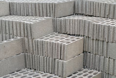 Stack of concrete blocks Stock Photos