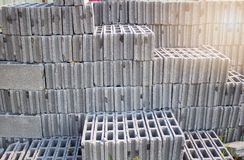 Stack of Concrete Blocks for construction,The construction industry stock photo
