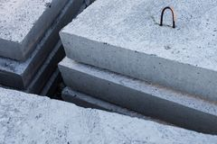 Stack of concrete blocks Stock Photography