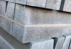Stack of concrete blocks Royalty Free Stock Images