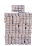 Stack of concrete blocks Stock Photo