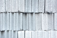 Stack of concrete bricks Royalty Free Stock Images