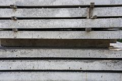 Stack of concrete building boards royalty free stock photos