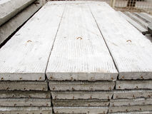 Stack of concrete building slab Royalty Free Stock Photos
