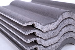 Stack of concrete roof tile (gray) Royalty Free Stock Image