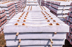 Stack of concrete sleeper Stock Images