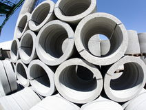 Stack of concrete tube Royalty Free Stock Photos
