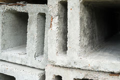Stack of the concrete ventilation blocks Stock Image