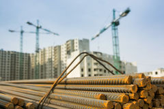 Stack of construction armature Royalty Free Stock Image